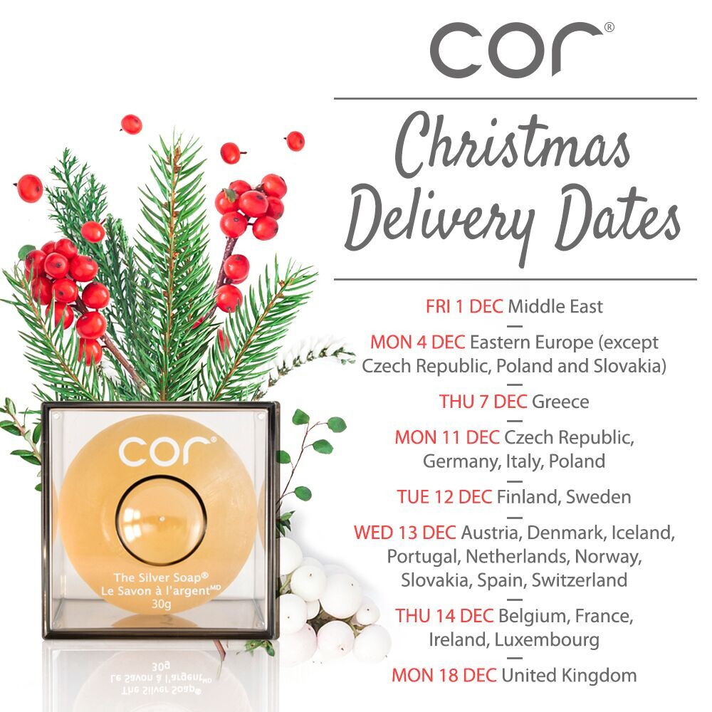 Cor Silver Cor Europe Christmas Delivery Dates